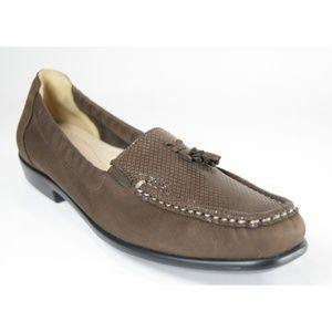 SAS Hope Brown Suede Tassel Loafers 7.5 (N) NEW